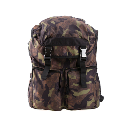 Camouflage Soft Lightweight String Closure Laptop Outdoor Backpack