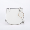 White classic fashionable crossbody PU handbag