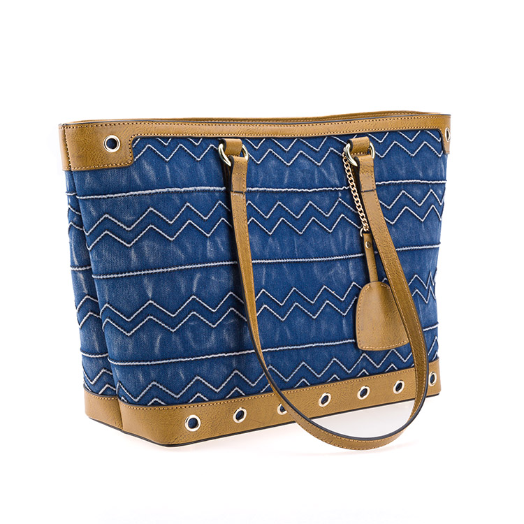 luxury fashion print jeans tote handbag bag